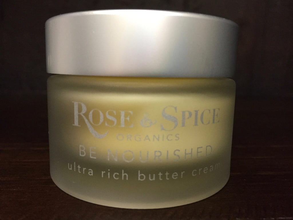 BE NOURISHED ultra rich butter cream - The English Rose Organic Spa