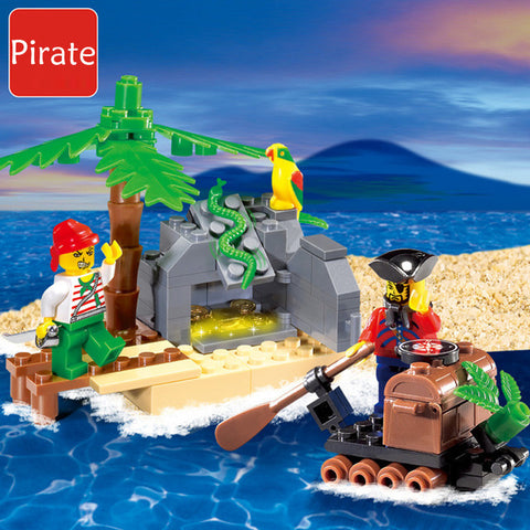 2017 New ENLIGHTEN 314 95 PCS Pirates Series Pirate Ship Building Blocks Bricks Sets Kids Jigsaw Toys Gift Compatible With Lego