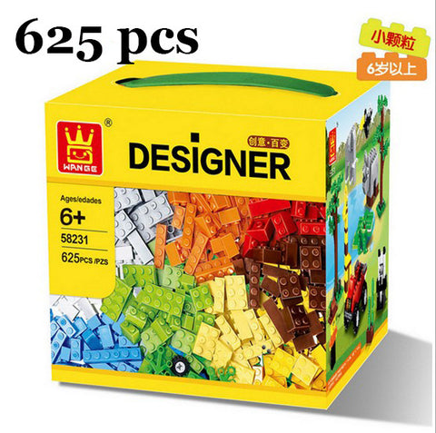 625 Pcs Building Blocks City  DIY Creative Bricks Toys For Child  Educational Wange Building Block Bricks Compatible With Lego