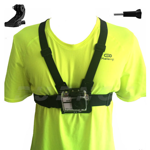 Chest Mount Harness belt Accessories for Gopro hero 5 SJCAM SJ4000 Go Pro Action camera Strap With J mount sport camera 10