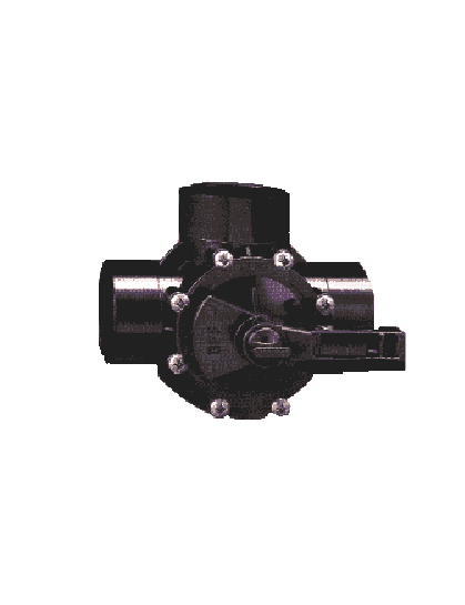 three 3 way diverter valve plastic