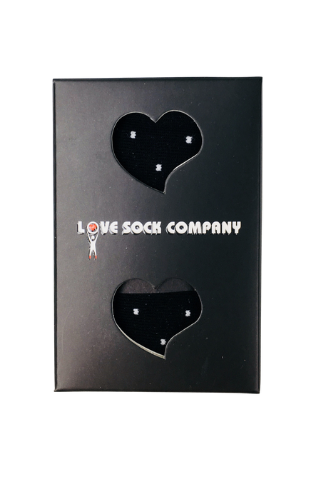 1 Pack Groomsmen Black Gift Box | Men's polka dots black dress socks