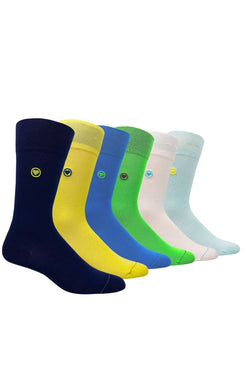 6 Pack Solid Dress Socks Bundle (M) - LOVE SOCK COMPANY