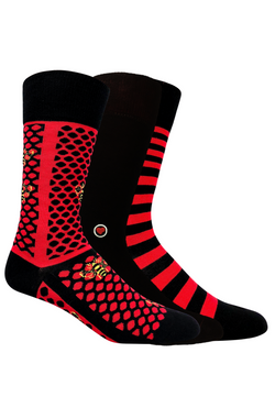 Black and Red 3 Pack - LOVE SOCK COMPANY
