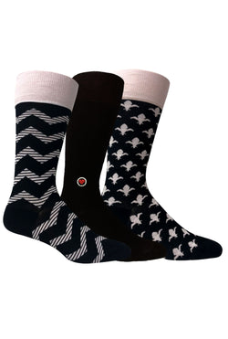 Black and White 3 Pack - LOVE SOCK COMPANY