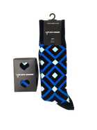 8 pack groomsmen socks for wedding. Love Sock Company men's navy argyle dress socks. Mirrors