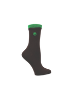 Brown Solid Socks (W) - LOVE SOCK COMPANY