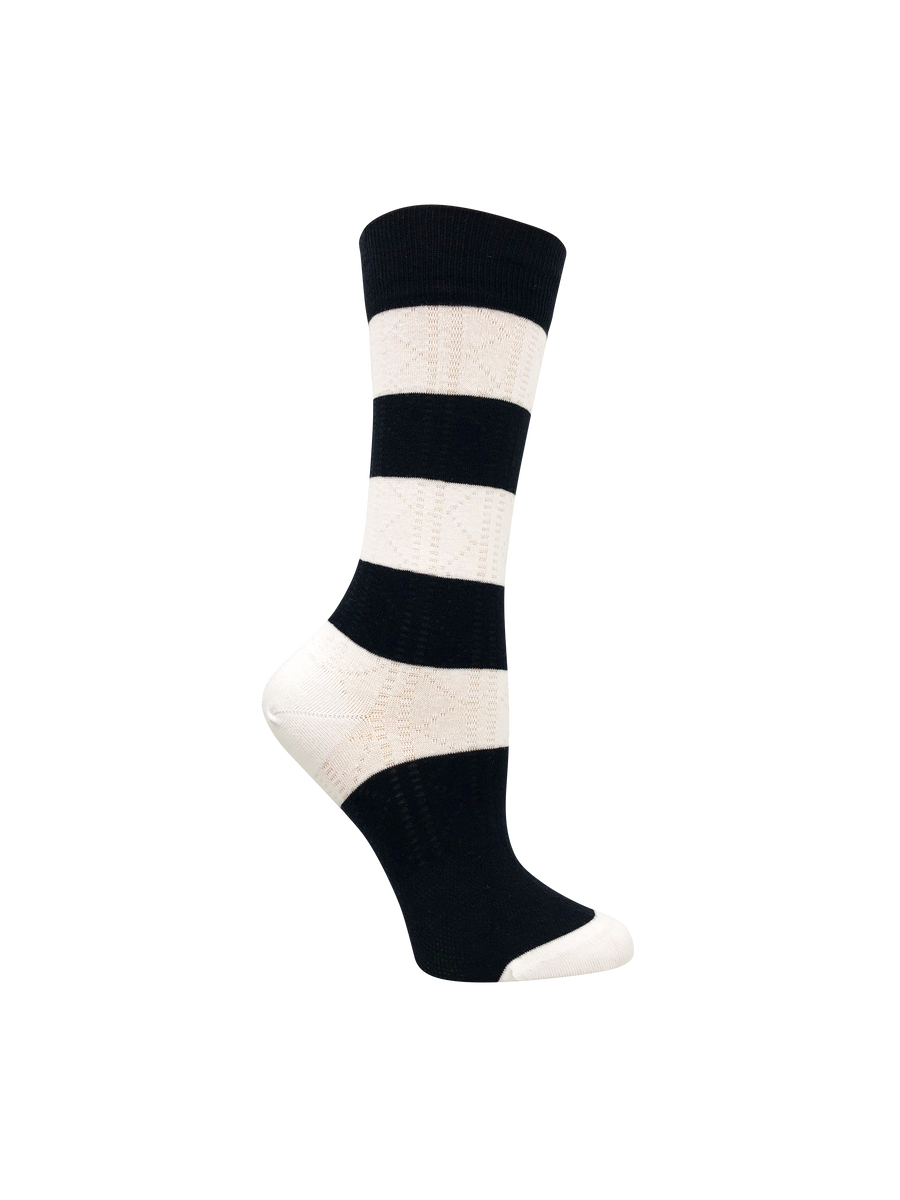 Black and white women's socks