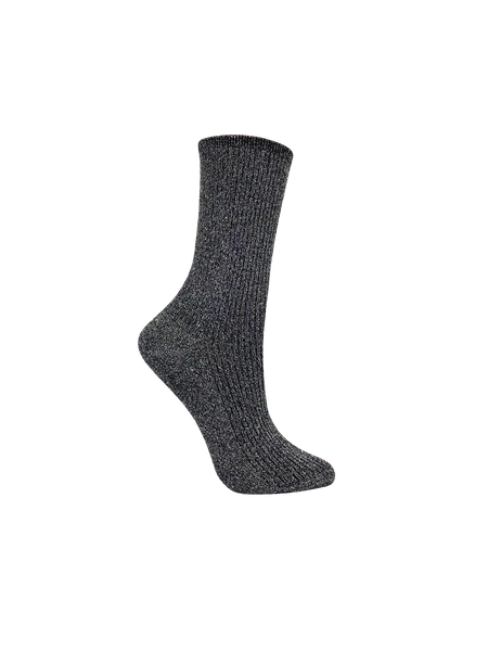 Women's Shimmer Trouser Socks Black | Girls Glitter socks | Women's dress socks