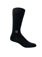 Men's Gray Solid Dress socks - Dark Gray Melange