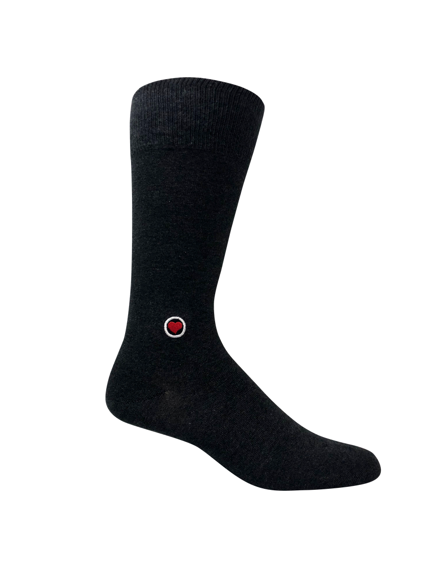 Gray Melange Solid Socks (M)