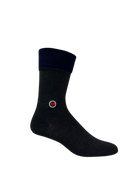 Gray Melange Solid Socks (M) - LOVE SOCK COMPANY