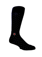 6 Pack Navy Groomsmen socks gift box | Men's polka dots blue dress socks