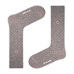 Biz Dots Men's Polka Dot Premium Dress Socks Grey Love Sock Company