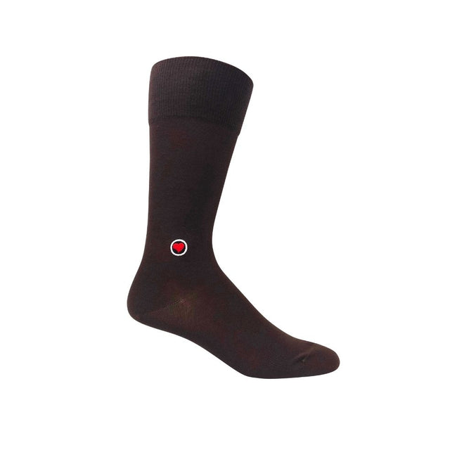 Brown Solid Socks (M) - LOVE SOCK COMPANY