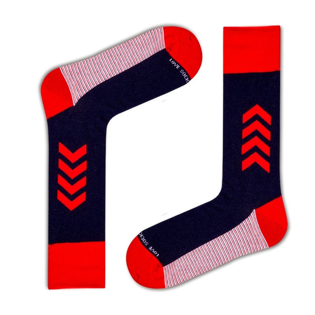 Four stripes Men's Patterned Dress Socks Love Sock Company (M) - LOVE SOCK COMPANY