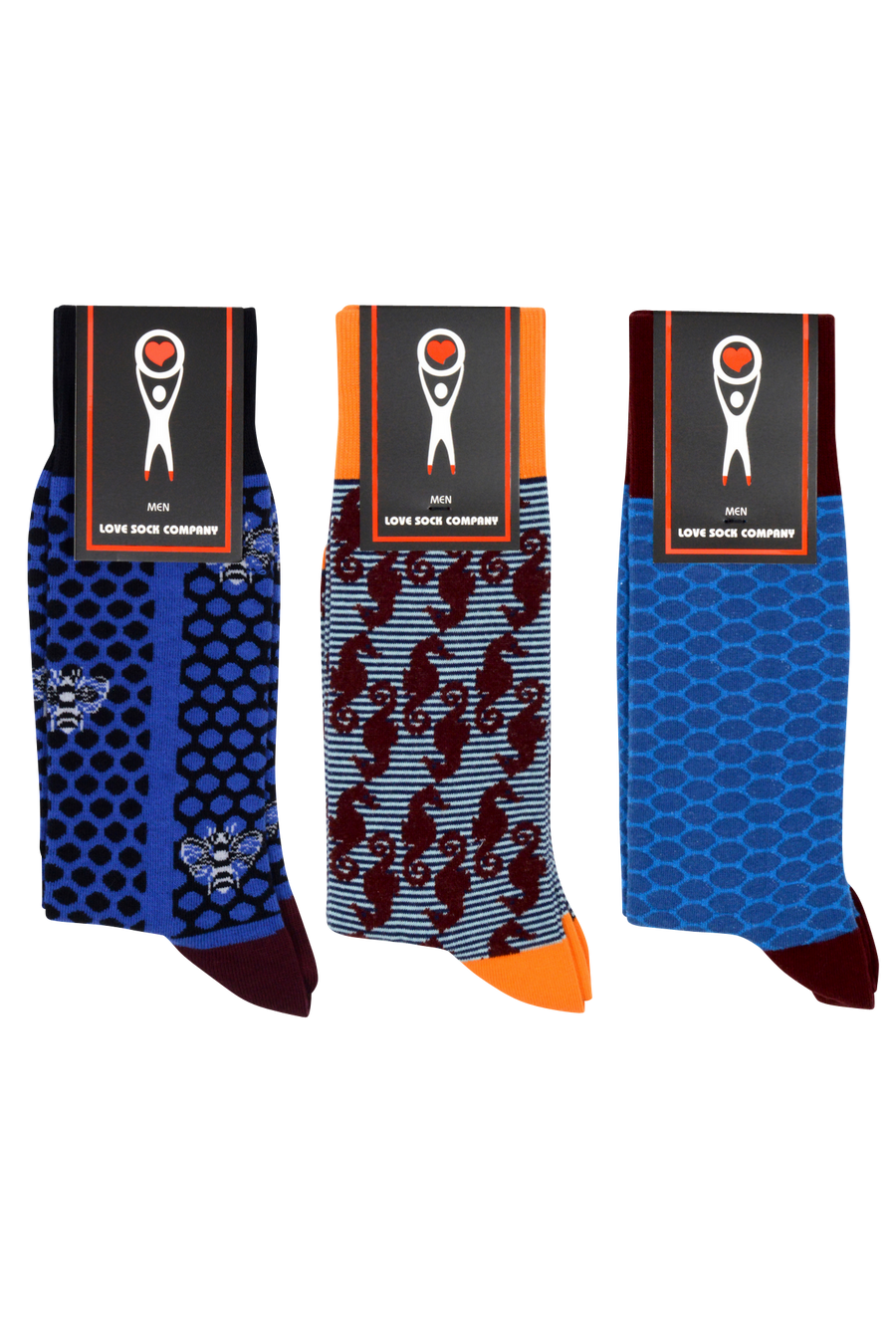 Funky Socks Navy Bundle (M)