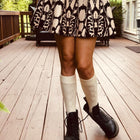 Ivory Knee High Boot Socks (W) - LOVE SOCK COMPANY