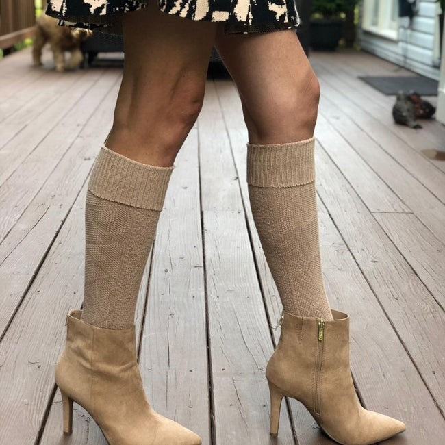 Latte Boot Socks (W) - LOVE SOCK COMPANY