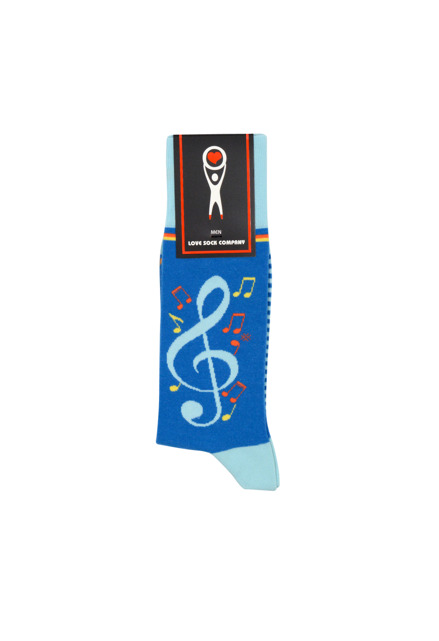 Musical Socks Blue (M) - LOVE SOCK COMPANY