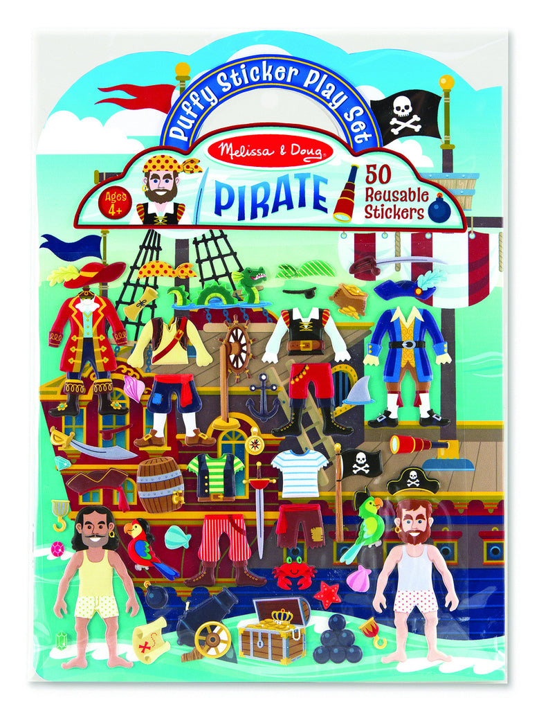 Melissa & Doug - Reusable Puffy Sticker Play Set - Pirates
