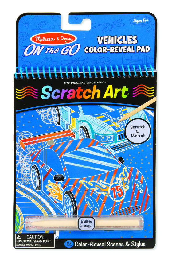 Melissa & Doug - On The Go - Scratch Art - Vehicles