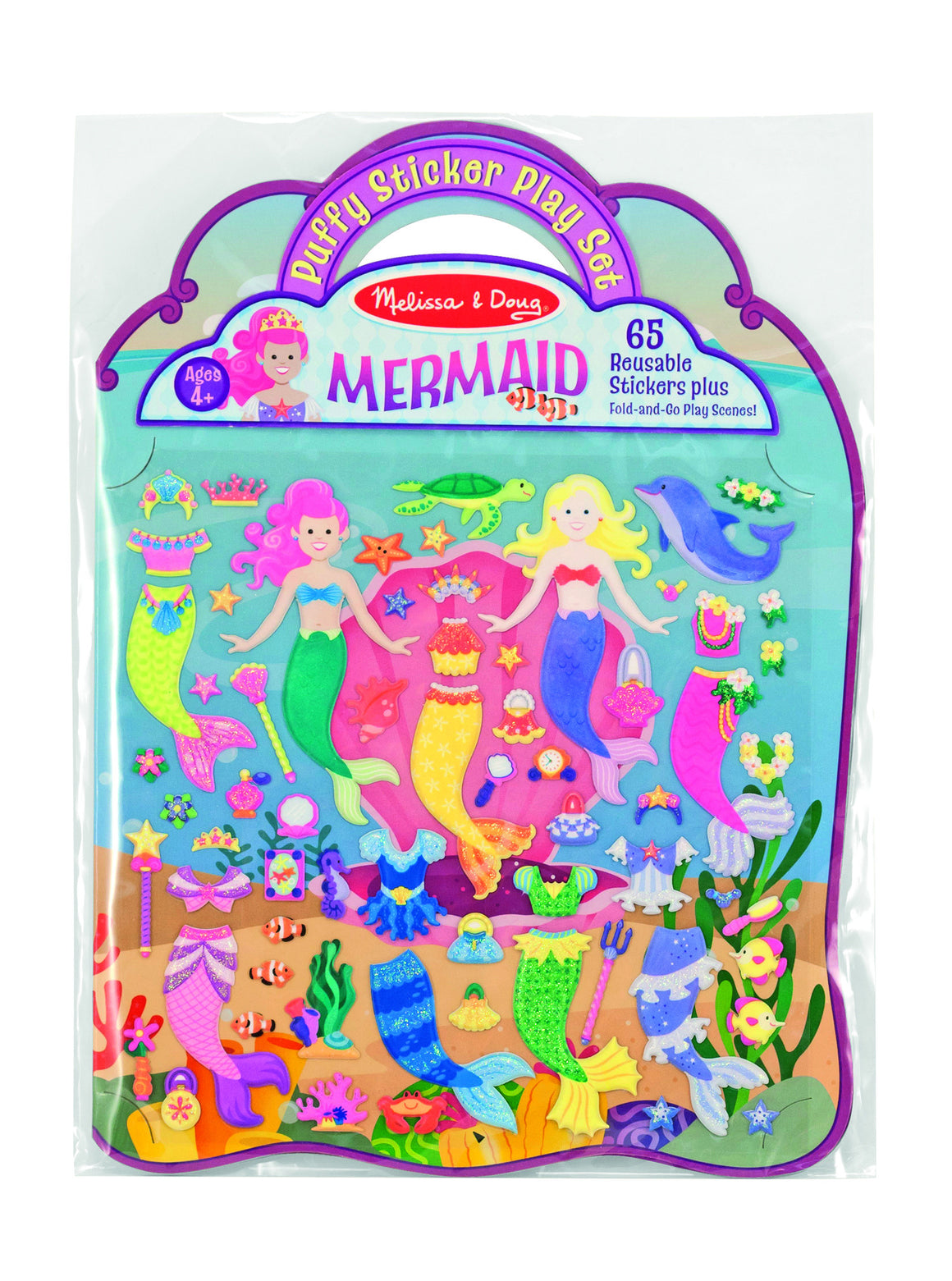 Melissa & Doug - Reusable Puffy Sticker Play Set - Mermaids