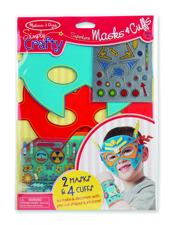 Melissa & Doug - Simply Crafty - Superhero Masks & Cuffs