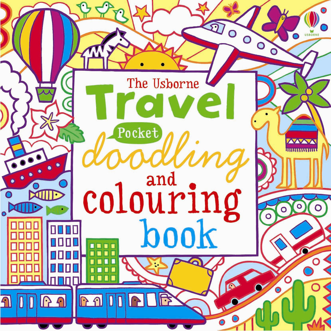 Usborne - Travel Pocket Doodling and Colouring Book