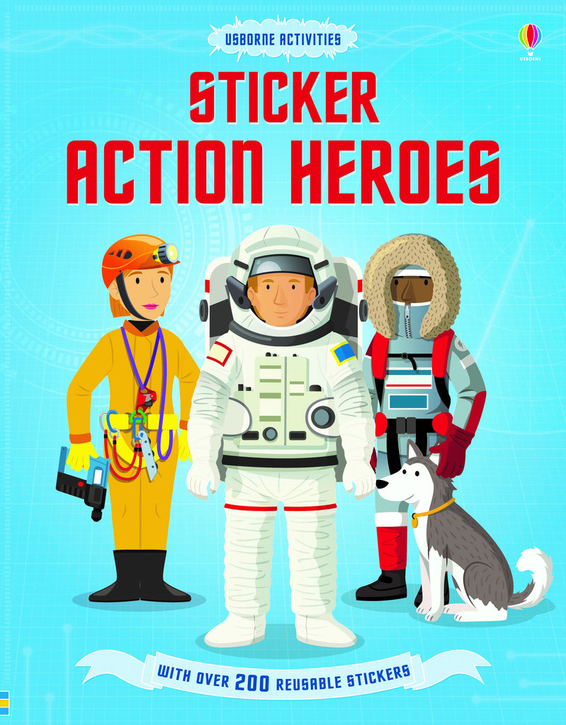 Usborne - Sticker Dressing Action Hereos