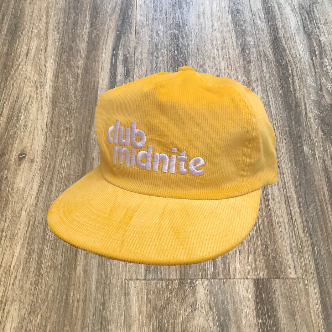 CORD HAT - MELLOW YELLOW