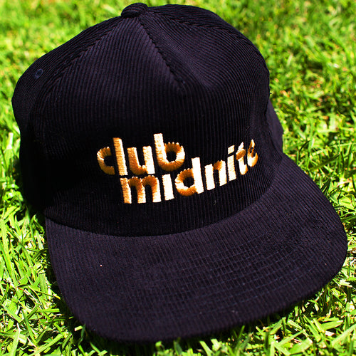 CORD HAT - BLACK/GOLD