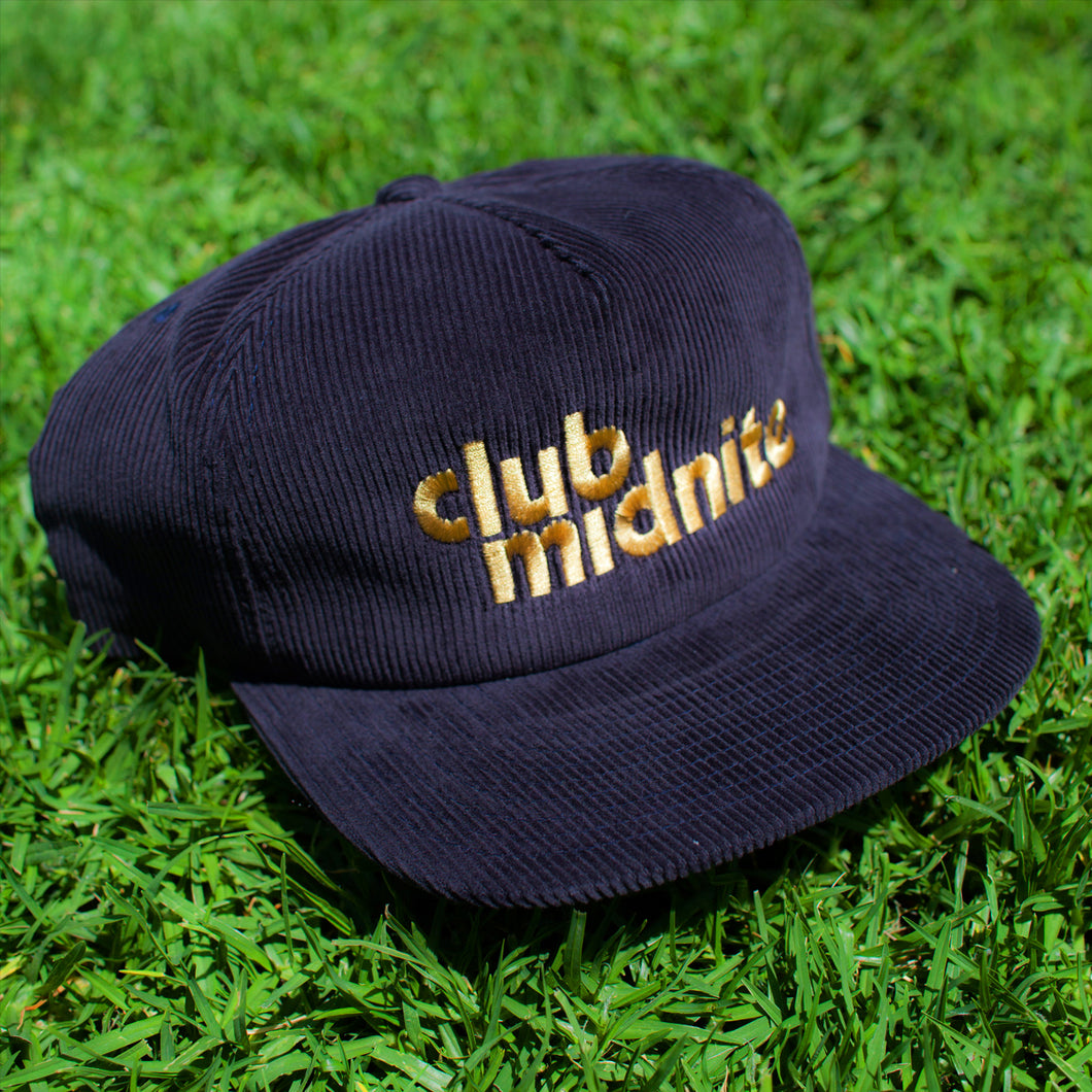 CORD HAT - NAVY/GOLD