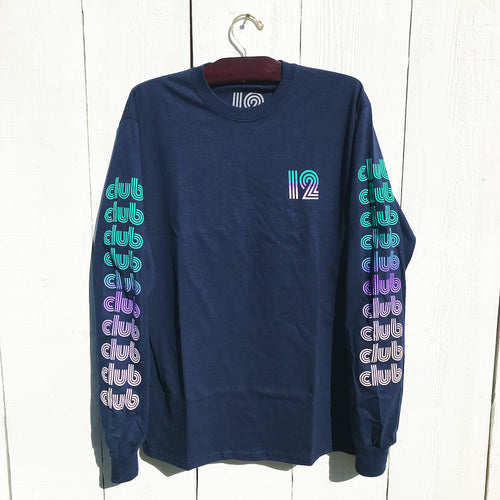 CLUB STACK L/S - NAVY GRADIENT