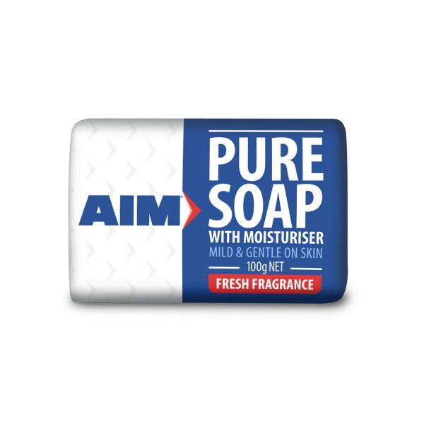 AIM PURE SOAP SINGLE BAR WRAPPED 100G
