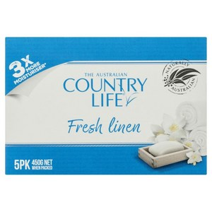 Country Life Fresh Linen Soap 5 Pkt