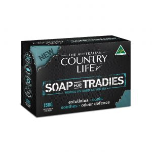 COUNTRY LIFE SOAP FOR TRADIES SINGLE BAR 150 GRAMS