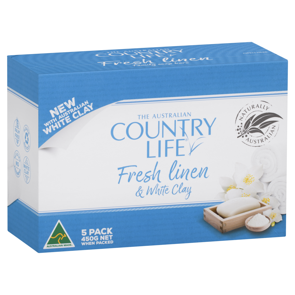 COUNTRY LIFE FRESH LINEN & WHITE CLAY