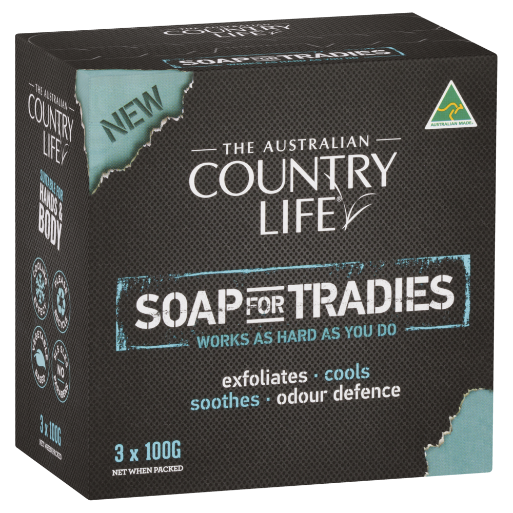 COUNTRY LIFE SOAP FOR TRADIES 3 X 100 GRAM