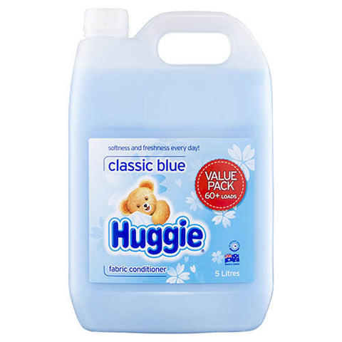 Huggie Fabric Conditioner Classic Blue 5 Ltr