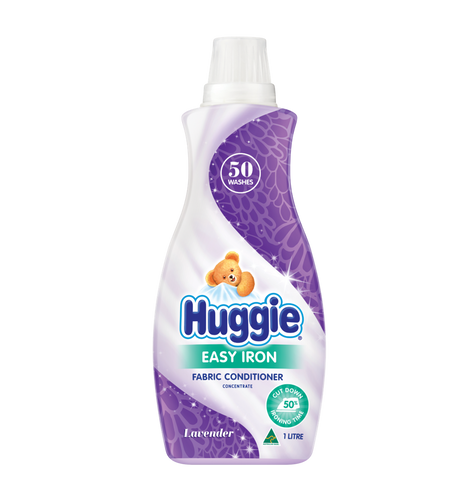 HUGGIE EASY IRON FABRIC CONDITIONER CONCENTRATE 1LT