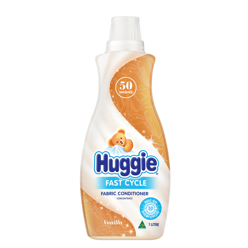 HUGGIE FAST CYCLE FABRIC CONDITIONER CONCENTRATE 1LT