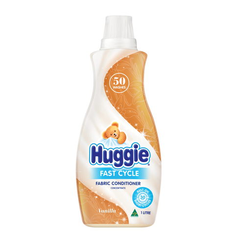 HUGGIE FAST CYCLE FABRIC CONDITIONER 1LT
