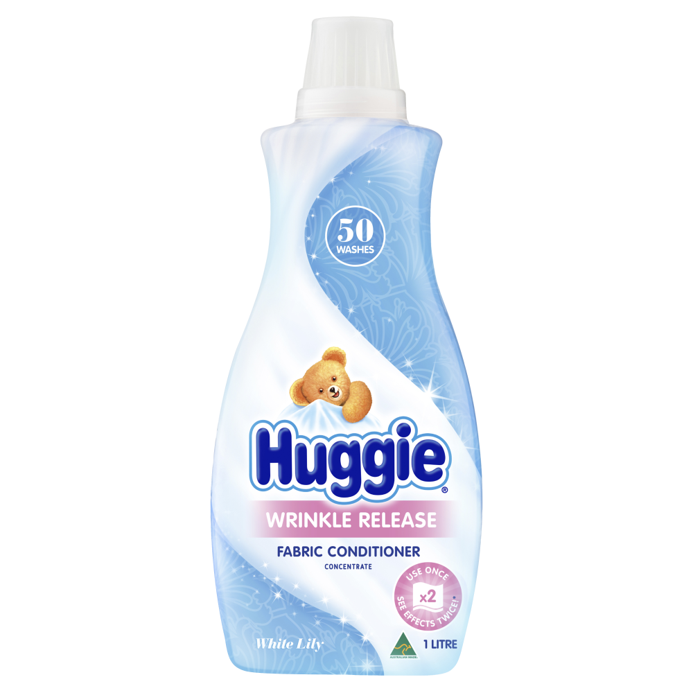 HUGGIE WRINKLE RELEASE FABRIC CONDITIONER CONCENTRATE 1 LITRE