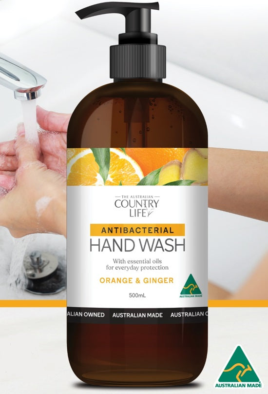 Country Life antibacterial hand wash - Orange and Ginger 500ml