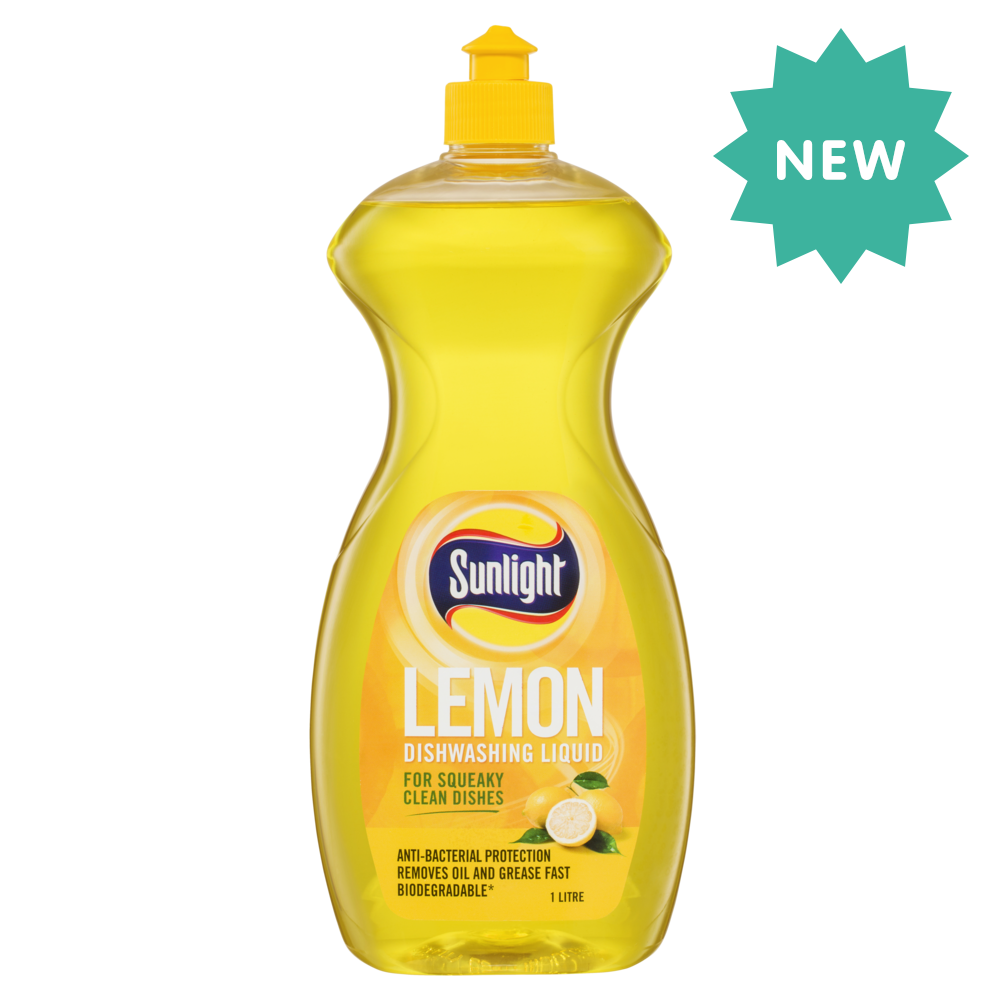 SUNLIGHT LEMON DISHWASHING LIQUID - ANTI-BACTERIAL
