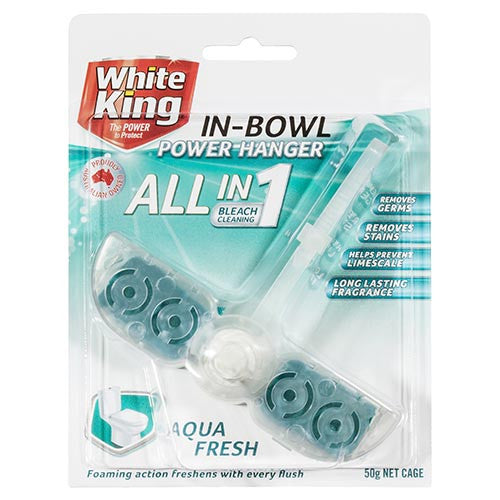 White King All in 1, In Bowl Power Hanger Aqua