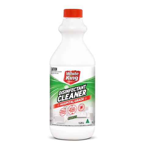 WHITE KING DISINFECTANT CLEANER HOSPITAL GRADE CITRUS 1.25LT