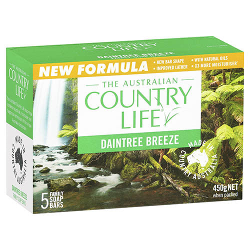 Country Life Daintree Breeze Soap 5 Pkt
