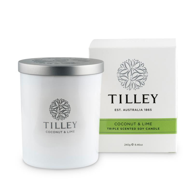 COCONUT & LIME TRIPLE SCENTED SOY CANDLES 240GR